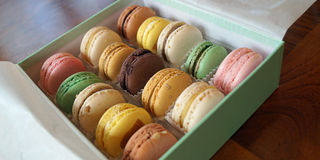Assorted Macarons Stock Image
