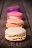 Assorted macaroons vintage Royalty Free Stock Photo