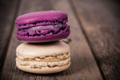 Assorted macaroons vintage Stock Photos