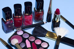 Assorted Makeup Items Royalty Free Stock Images