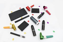 Assorted makeup items royalty free stock photos