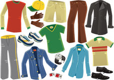 Assorted male clothing garments Stock Photo