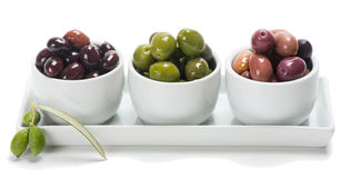 Assorted marinated in a small bowls Stock Images