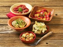 Assorted marinated vegetables Royalty Free Stock Photo