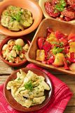 Assorted marinated vegetables Stock Image