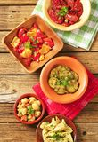 Assorted marinated vegetables Stock Images