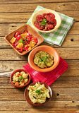 Assorted marinated vegetables Stock Photography