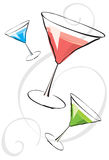 Assorted martinis Stock Photo
