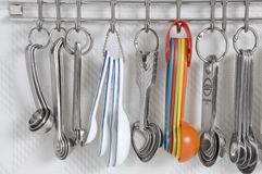 Assorted Measuring Spoons Royalty Free Stock Images