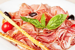 Assorted meat delicatessen Royalty Free Stock Image
