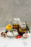 Assorted Meat Marinades Stock Photos