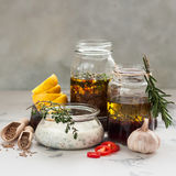 Assorted Meat Marinades Royalty Free Stock Images
