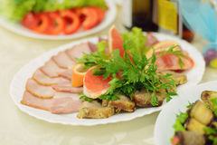 Assorted Meat Plate Stock Image
