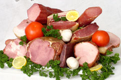 Assorted meat and vegetables Royalty Free Stock Photo