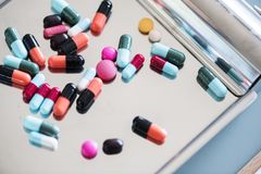 Assorted Medication Capsules Royalty Free Stock Photo