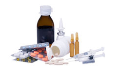 Assorted medication equipment Stock Photography