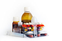 Assorted medicines Stock Image
