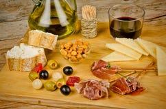 Assorted Mediterranean snacks Stock Photos