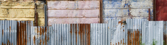 Assorted metals wall background Royalty Free Stock Photography