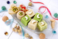 Assorted Milk Solid Sweets Royalty Free Stock Photo