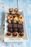 Assorted mini cakes Royalty Free Stock Photography