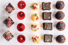Assorted of mini chocolate cakes Stock Image