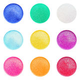 Assorted Mini Dish Glitter Colors Royalty Free Stock Images