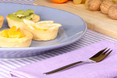 Assorted mini fruit tarts Stock Photos