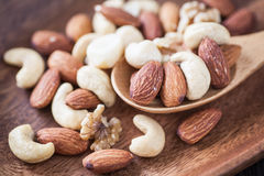 Assorted mixed nuts Royalty Free Stock Image