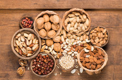 Assorted mixed nuts Royalty Free Stock Photo