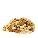 Assorted mixed nuts isolated on white background. Nuts mix isolated on white background Stock Photos