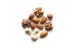 Assorted mixed nuts Stock Photos