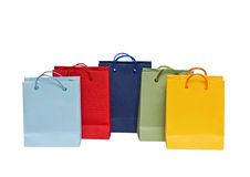 Assorted multi-color shopping bag Royalty Free Stock Photography