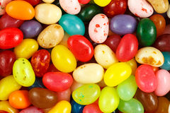 Assorted multicolored jelly beans. Close up of assorted multicolored jelly beans Stock Photo