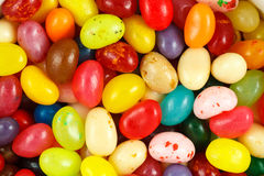Assorted multicolored jelly beans. Close up of assorted multicolored jelly beans Royalty Free Stock Photo
