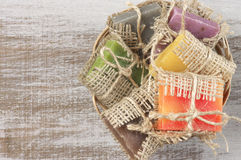 Assorted natural soap Royalty Free Stock Images