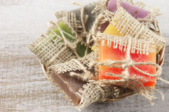 Assorted natural soap Stock Image