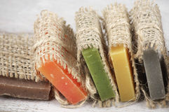 Assorted natural soap Stock Images