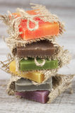 Assorted natural soap Royalty Free Stock Photography