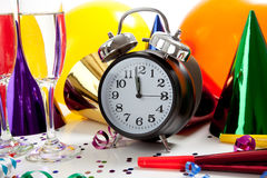 Assorted New Year's Eve party supplies Royalty Free Stock Photos