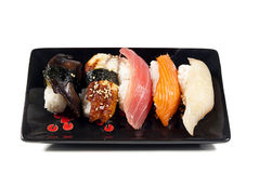 Assorted nigiri sushi Stock Image