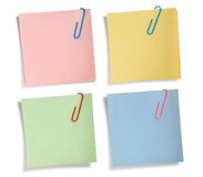 Assorted Note Papers Isolated Royalty Free Stock Image