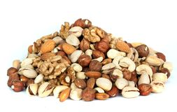 Assorted nut mix royalty free stock images