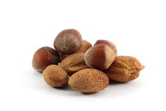 Assorted nuts Royalty Free Stock Photos