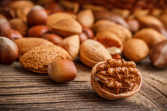 Assorted of nuts Royalty Free Stock Photos