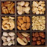 Assorted nuts for a background Royalty Free Stock Images