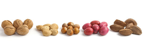 Assorted nuts background Royalty Free Stock Photography
