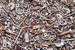 Assorted nuts and bolts Stock Images