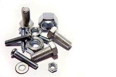Assorted nuts and bolts Stock Photos
