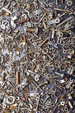 Assorted nuts and bolts Royalty Free Stock Photo